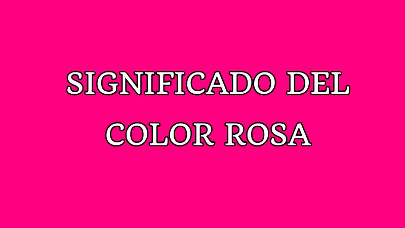 significado del color rosa